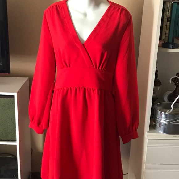 kate spade Dresses & Skirts - Kate Spade Red Long Sleeved Dress